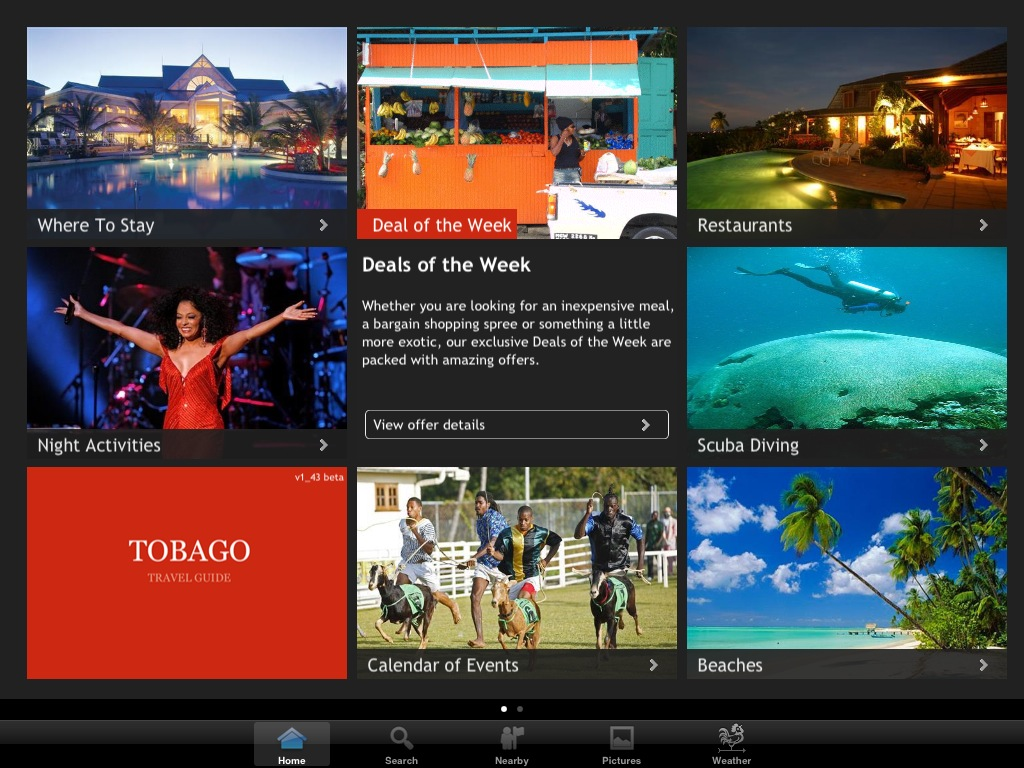 Tobago Travel Guide on iPad